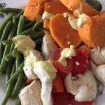 recepten zoete aardappel sperziebonen kip salade | Geniet MEER